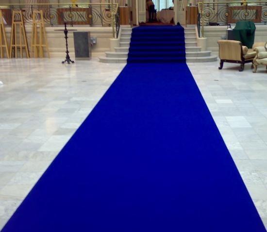 Carpete Tapete Azul Royal Para Casamento, Festas 2x2 Metros