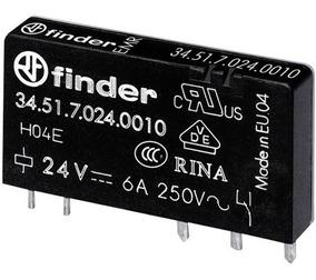Rele Finder 345170240010 6 Amperes 24v Pci