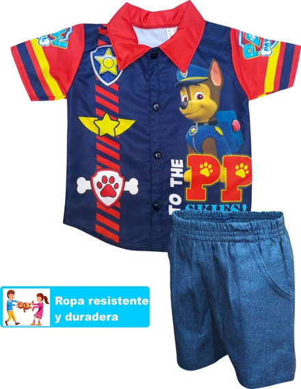 Camisa Conjunto Niño Tallas 1,2,3 Paw Patrol