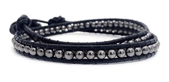 Pulseira Masculina Feminina Bracelete Pedra Chan Luu