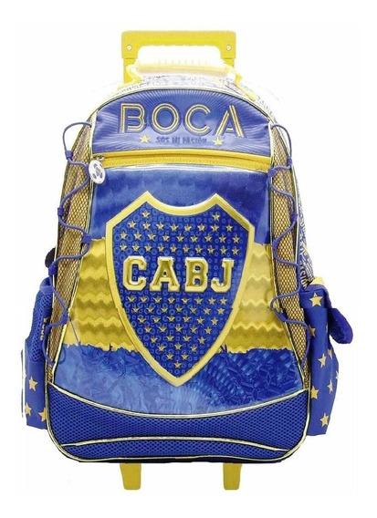 Mochila Carro Boca Juniors Original Muy Grande + Cuotas