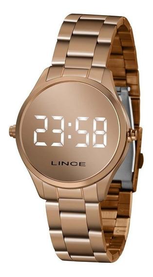 Relógio Lince Digital Led Feminino Mdr4617l Bxrx Rose
