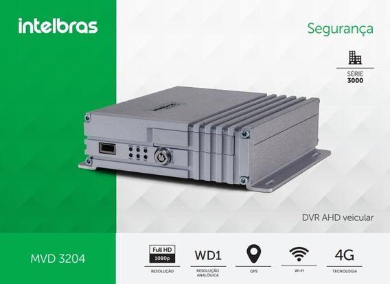 Kit Dvr Veicular Intelbras 3204 Gw -rastreador, Gps 4g Wifi