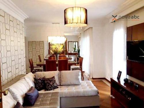 Apartamento Com 3 Dormitórios À Venda, 129 M² Por R$ 650.000,00 - Parque Das Nações - Santo André/sp - Ap3308