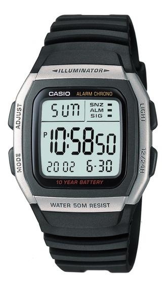Relógio Casio Masculino Digital W-96h-1avdfu Preto + Brinde