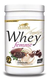 Whey Feminino Ômega Femme 450g - Leader Nutrition / Sabores