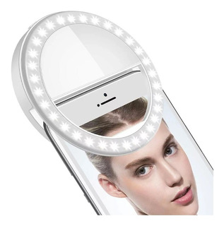 Aro Luz Led Selfie Celular Tablet Pc Linterna Anillo 8.5 Cm