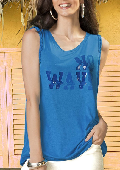 Camiseta Escote Redondo Azul 1267310 Andrea