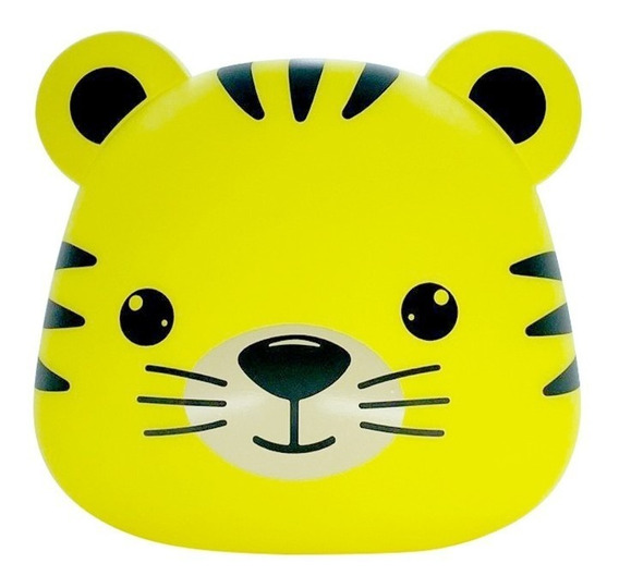 Luminária Abajur Tigre Amarelo Decorfun