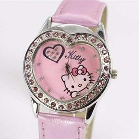 Relógio Infantil Adulto De Pulso Hello Kitty Coração - Rosa