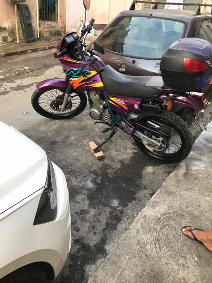 Honda Nx 200 Roxa 99