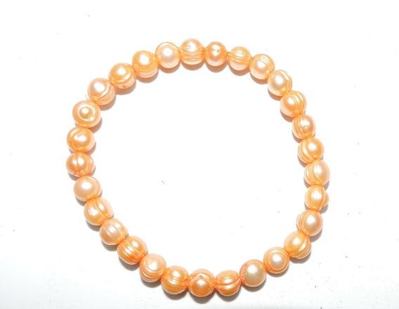 Pulsera Perla Cultivada Natural 18 Cm 7-8 Mm -50 % Descuento