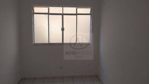 Imagem 1 de 7 de Apartamento Residencial Com 2 Dormitórios, 1 Banheiro, 1 Vaga, À Venda, 53 M² Por R$ 297.000 - Gonzaga - Santos/sp - Ap10723