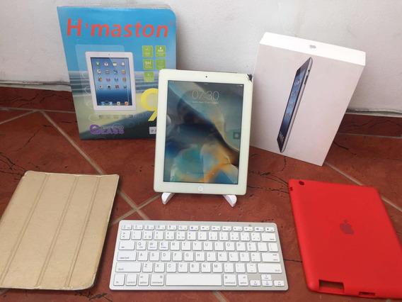 iPad 3 32gb 4g + Teclado + Suporte + Duas Capas + Película