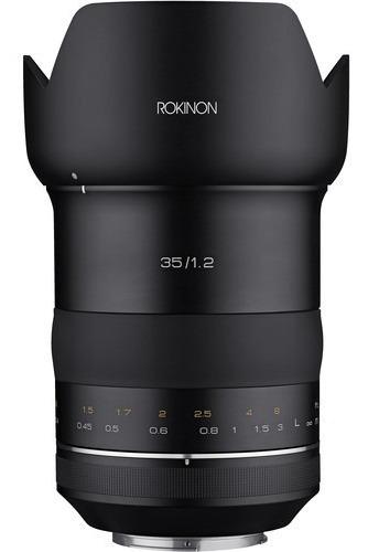 Lente Rokinon Sp 35mm F/1.2 Para Canon Ef