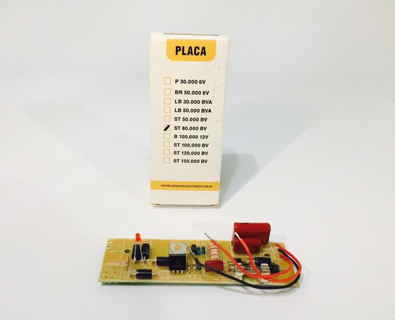 Kit Placa Eletrificador St 80km Bv + Bobina - Sentinela