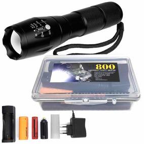 Lanterna Tática Martinelli 800 T6 + Estojo + Bateria Extra