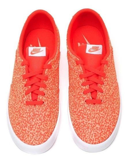Tenis Nike Mini Sneaker Lace Print Naranja Dama Mujer