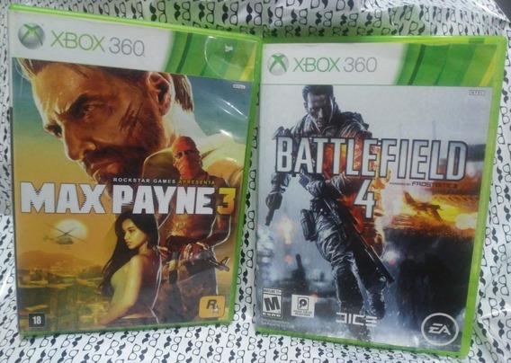 Jogo Xbox 360 Original Combo Max Payne 3 E Battlefield 4
