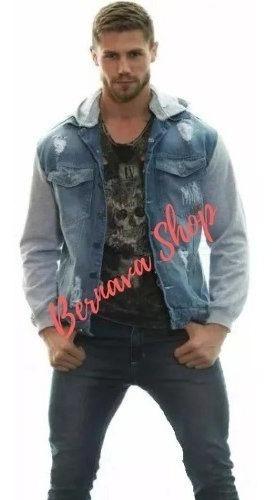 Jaqueta Jeans Moletom Masculina Roupa Masculina Casaco