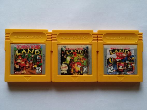 Coleção Donkey Kong Land 1 + 2 + 3 Originais Americanos!!
