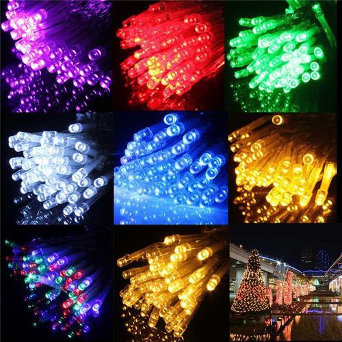 Imagen 1 de 5 de 2 Serie Tira De Luces Led 100 Luces Para Exterior E Interior