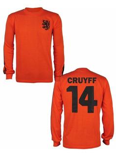 Camisa Retrô Holanda Reserva Copa 1974 Cruyff 14