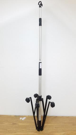 Tripie Aluminio Porta Suero Medicamento 2 Ganchos M138