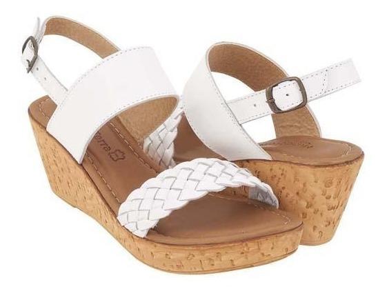 Sandalia De Plataforma Para Dama Blanco 017237