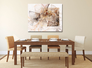 Rayas Minimalista Abstracto Canvas Cuadro Decorativo