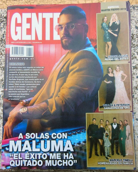 Revista Argentina Gente 2812 Maluma / Cirque Du Soleil 2019
