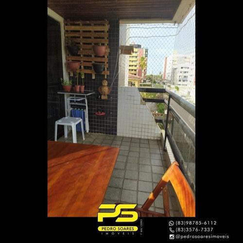 Apartamento Com 3 Dormitórios À Venda, 142 M² Por R$ 350.000 - Intermares - Cabedelo/pb - Ap4281