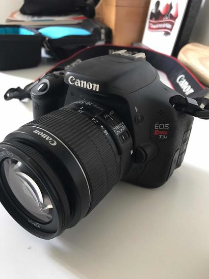 Camera Canon T3i 18-55mm Com Bateria Extra