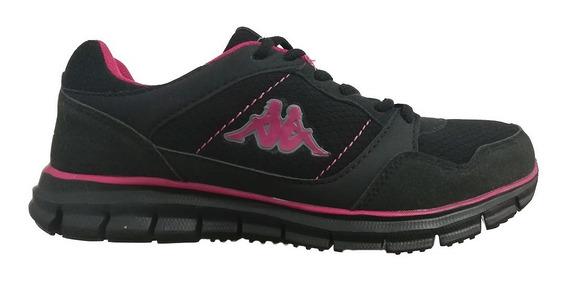 Tenis Atleticos Black Run Mujer Kappa 21654