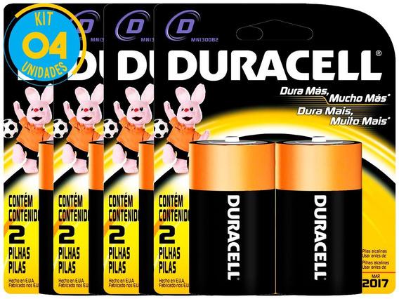 Pilha Alcalina Grande Duracell D Cart. Com 2 ( 4 Cartelas )