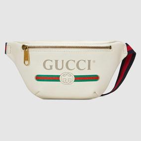 Gucci Belt Bag Em Couro Tam Grande Cream Color Pochete