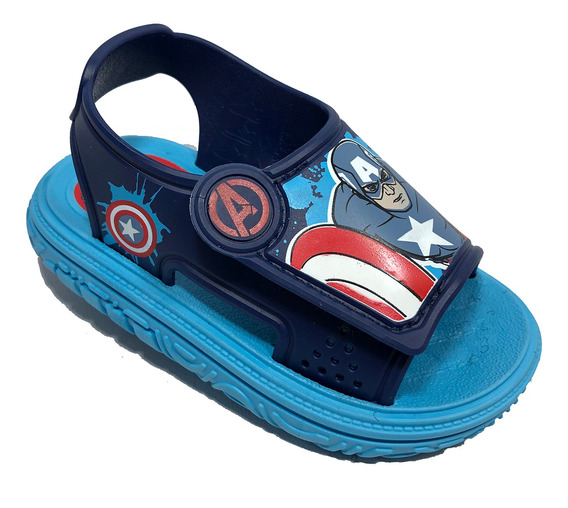 Sandália Capitão América Avengers Infantil Azul - 22128