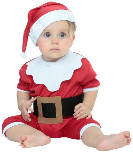 Imagen 1 de 1 de Disfraz Baby Santa Bebé Disfraz Navideño Santa Claus Bebé