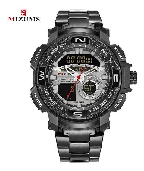 Relógio Masculino Original Led Analógico Digital Mizums
