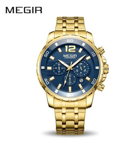 Relógio Masculino Megir Cronógrafo Luxo