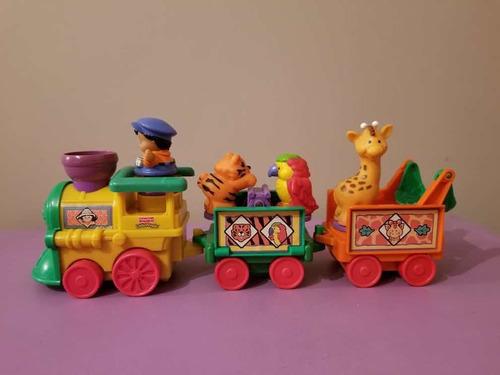 Tren Little People Con 3 Animales Y 1 Niño. Originales
