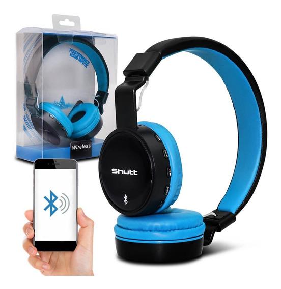 Fone De Ouvido Headphone Basic Wireless Azul Claro Shutt