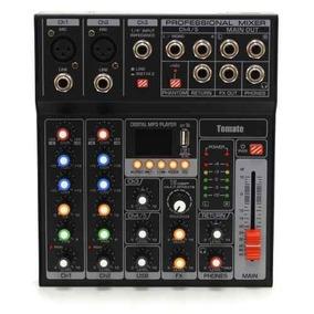 Mesa De Som Dj 7 Canais Mp3 Usb Digital Microfone Violão Nov