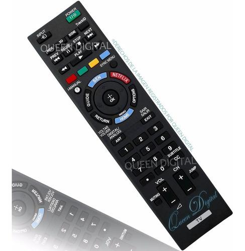 Imagen 1 de 10 de Control Remoto Para Sony Bravia Netflix 3d Smart Tv Led Tv