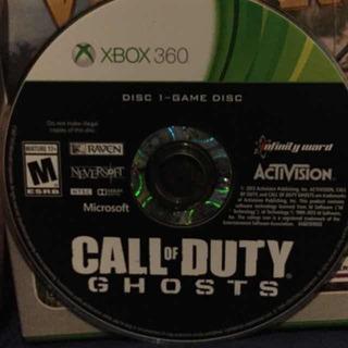 Call Of Duty Ghosts Xbox 360 Usado Blakhelmet E