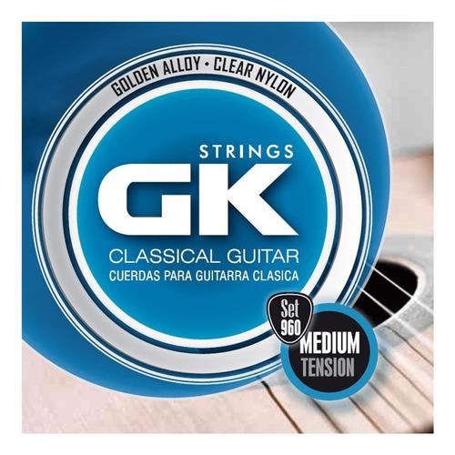 Imagen 1 de 9 de Encordado Guitarra Clásica Criolla Gk Medium Tensión