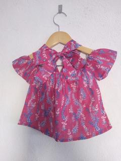 Blusa Ciganinha Infantil Estampada Com Turbante