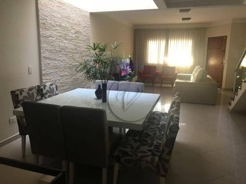 Sobrado Com 3 Dormitórios À Venda, 162 M² Por R$ 850.000 - Vila Marina - Santo André/sp - So0670