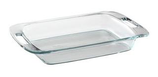 Asadera Grande Fuente Molde Rectangular Vidrio Templado Pyrex Easy Grab Para Horno Freezer Con Asas - 33 Cm 2,8 Litros