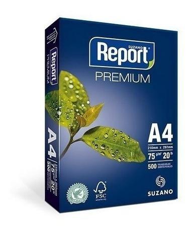 Papel A4 Report Premiun 210x297mm Pct Com 500 Fls